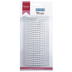 Embellishments / Verzierungen Decoration beads in white