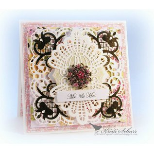 Spellbinders und Rayher cutting & embossing: Isadora Trinkets Etched The Shapeabilities