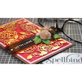 Spellbinders und Rayher Stanzschablonen: Shapeabilities Camellia Accents Etched