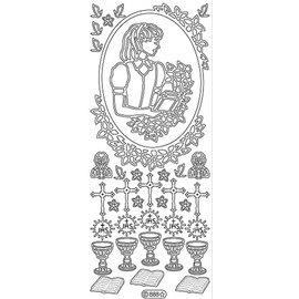 Sticker Autocollant filles Communion