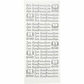 """STICKER / AUTOCOLLANT Adesivi, testo in tedesco, """"per la conferma"""""""