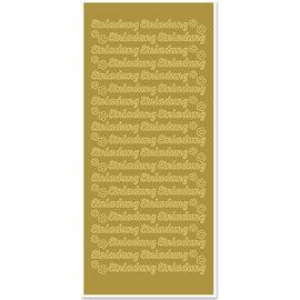 """Sticker Sticker, deutsche Text, """"Einladung"""""""
