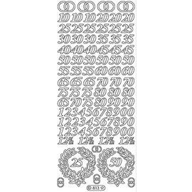 STICKER / AUTOCOLLANT Sticker, Jubileum Zahlen in gold