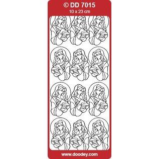 STICKER / AUTOCOLLANT Sticker & Mary Gesù Bambino in oro