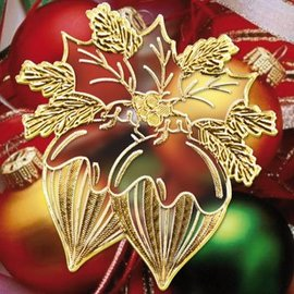 Sticker Sticker with 18 detailed embossed Christmas motifs