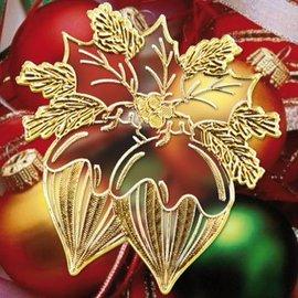 Sticker Sticker mit 18 detaillierte geprägte Weihnachtsmotive