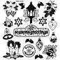 STICKER / AUTOCOLLANT Stickers met 18 gedetailleerde reliëf Christmas Theme