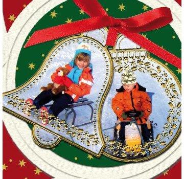 Sticker Sticker: 6 Weihnachtskugel- und 6 Klocken