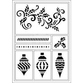 Schablonen, für verschiedene Techniken / Templates Las plantillas flexibles, bolas A5, Navidad y snorkel