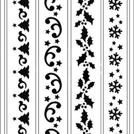 Schablonen, für verschiedene Techniken / Templates Pochoirs souples, A5, conceptions de Noël