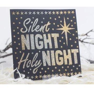 Schablonen, für verschiedene Techniken / Templates Universele Sjablonen, Silent Night