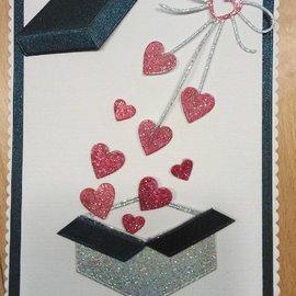 "Penny Black Stansmessen: ""Heart boog"" cardiale lus"