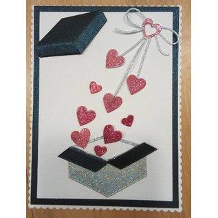 """Penny Black Bakker: """"Heart bow"""" hjertesløyfe"""