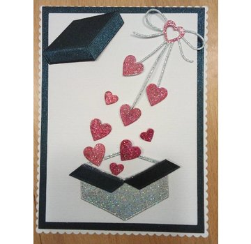 "Penny Black Cutting meurt: ""arc de coeur"" boucle cardiaque"