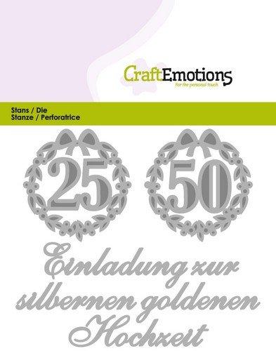 Crealies Und Craftemotions Stanzschabloneneinladung 25 50 Hochzeit De Card 11x9cm