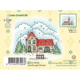 Leane Creatief - Lea'bilities und By Lene Stamp, Winterlandschap huis