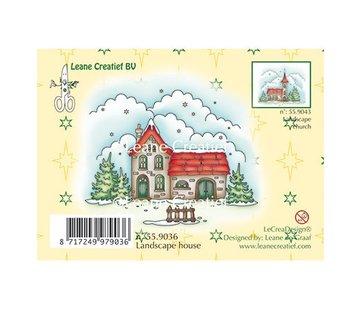 Leane Creatief - Lea'bilities und By Lene Stamp, winter landscape house