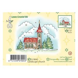 Leane Creatief - Lea'bilities und By Lene Stamp, winterlandschap Kerk