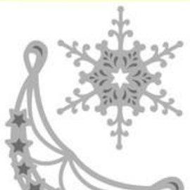 Crealies und CraftEmotions Troqueles de corte: 2 x Ornamento de la esquina y 2x Eiskrisalle