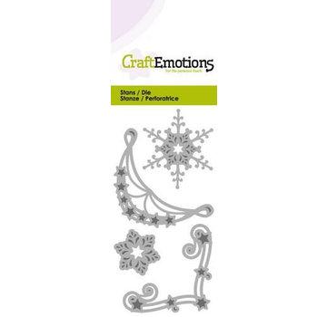 Crealies und CraftEmotions Skæring dør: 2 x hjørne ornament og 2x Eiskrisalle