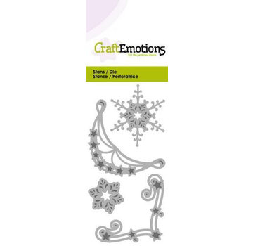 Crealies und CraftEmotions Stamping templates: 2 x corner ornament and 2x ice crystals