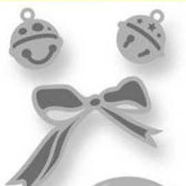Crealies und CraftEmotions Stamping templates: 2 bells, 2 mini bells and 1 loop