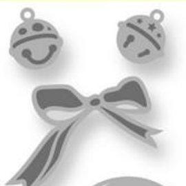 Crealies und CraftEmotions Troqueles de corte: 2 campanas, 2 mini campanas, y 1 bucle