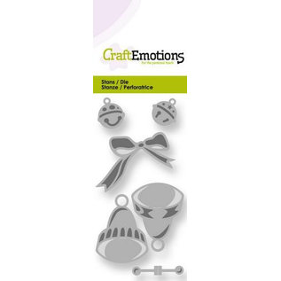 Craftemotions Stamping templates: 2 bells, 2 mini bells and 1 loop