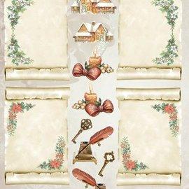 Bilder, 3D Bilder und ausgestanzte Teile usw... fogli A4: rotoli di pergamena