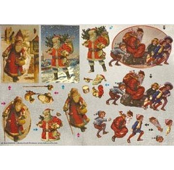 Bilder, 3D Bilder und ausgestanzte Teile usw... Dufex matrice 3D feuille découpée, Santas nostalgiques