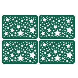 KARTEN und Zubehör / Cards 4 chipboards with stars in map size