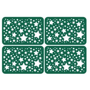 KARTEN und Zubehör / Cards 4 panneaux de particules avec des étoiles dans la taille de la carte