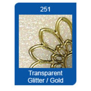 STICKER / AUTOCOLLANT Glitter Ziersticker, 10 x 23cm, grote sterren, glitter-goud