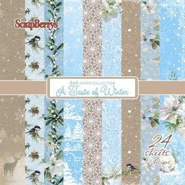 Karten und Scrapbooking Papier, Papier blöcke Kort og scrapbog papir, designer blok, en smag af vinteren