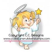 C.C.Designs Gummi (gummi) Stempel: Angel Twila