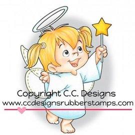 C.C.Designs Caoutchouc (caoutchouc) Stamp: Angel Twila