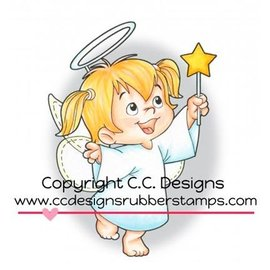 C.C.Designs Gummi (Rubber) Stempel: Angel Twila
