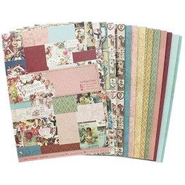 Karten und Scrapbooking Papier, Papier blöcke A4, papel de diseño: motivos de corazones de San Valentín / victorianos