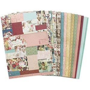 Karten und Scrapbooking Papier, Papier blöcke A4, designer paper: Victoria