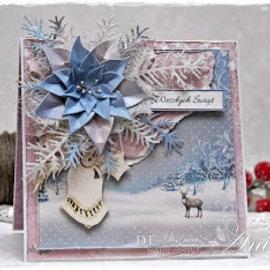 Karten und Scrapbooking Papier, Papier blöcke Tarjetas y papel de bloc de notas, bloque diseñador, país de las maravillas de invierno
