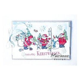 Marianne Design Transparent / Clear Stempel: Weihnachtsmänner