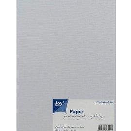 Joy!Crafts / Jeanine´s Art, Hobby Solutions Dies /  A5, carta, struttura lino, bianco, 20 fogli, 230 gsm