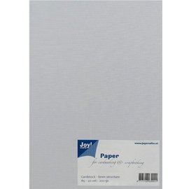 Joy!Crafts / Jeanine´s Art, Hobby Solutions Dies /  A5, paper, linen structure, white, 20 sheets, 230 gsm