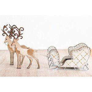 Tonic Studio´s Punching and embossing template: 1 sleigh + 1 reindeer - the LAST stencils!