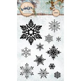 Studio Light Transparent / Clear Stamp: 12 ice crystals