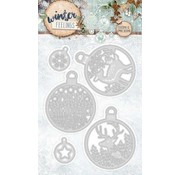 Studio Light Gabarit de découpe et gaufrage: 5 bulles de Noël