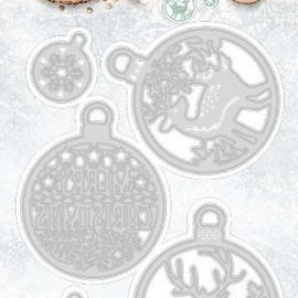 Studio Light Cutting and embossing template: 5 Christmas Bubbles
