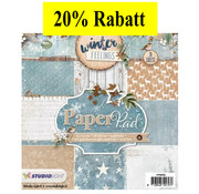 Karten und Scrapbooking Papier, Papier blöcke Designersblock, 15,5 x 15,5 cm Sentimenti invernali