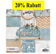 Karten und Scrapbooking Papier, Papier blöcke Designer Block, 15,5 x 15,5 cm Winter Feelings