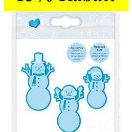 Tonic Studio´s gabarit de découpe et de gaufrage: 3 Snowmen